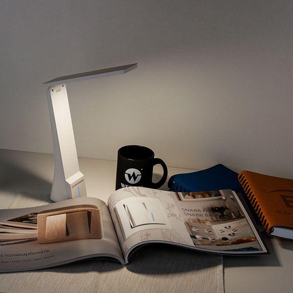 Светодиодная настольная лампа Desk белый/золотой (TL90450) (фото 5)