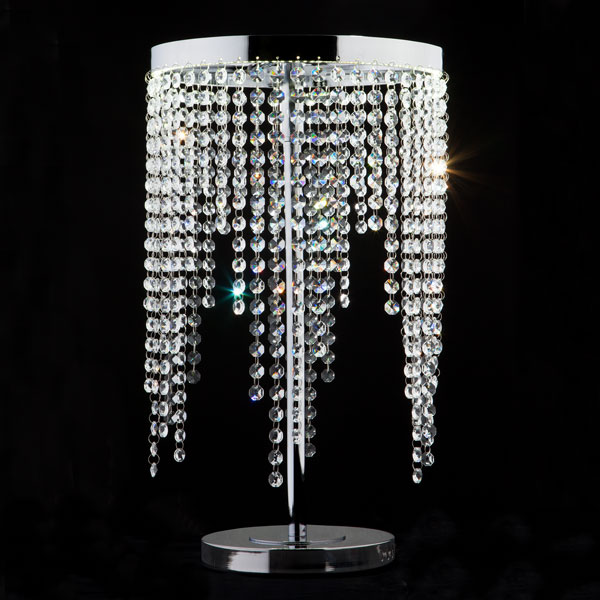 Светодиодная настольная лампа с хрусталем 80412/1 хром