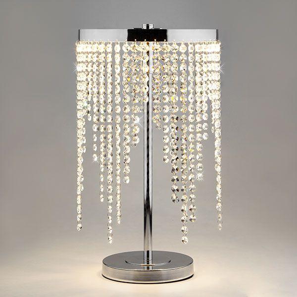 Светодиодная настольная лампа с хрусталем 80412/1 хром (фото 2)