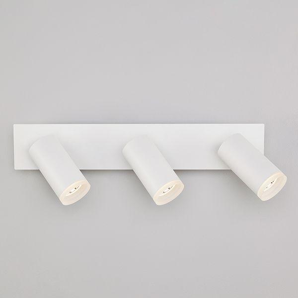Светодиодный настенный светильник с поворотными плафонами 20067/3 белый
