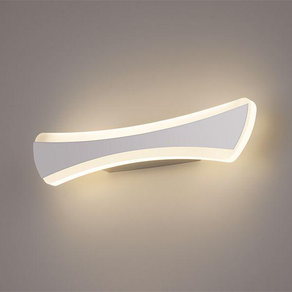 Светодиодный настенный светильник Wave LED хром (MRL LED 1090)