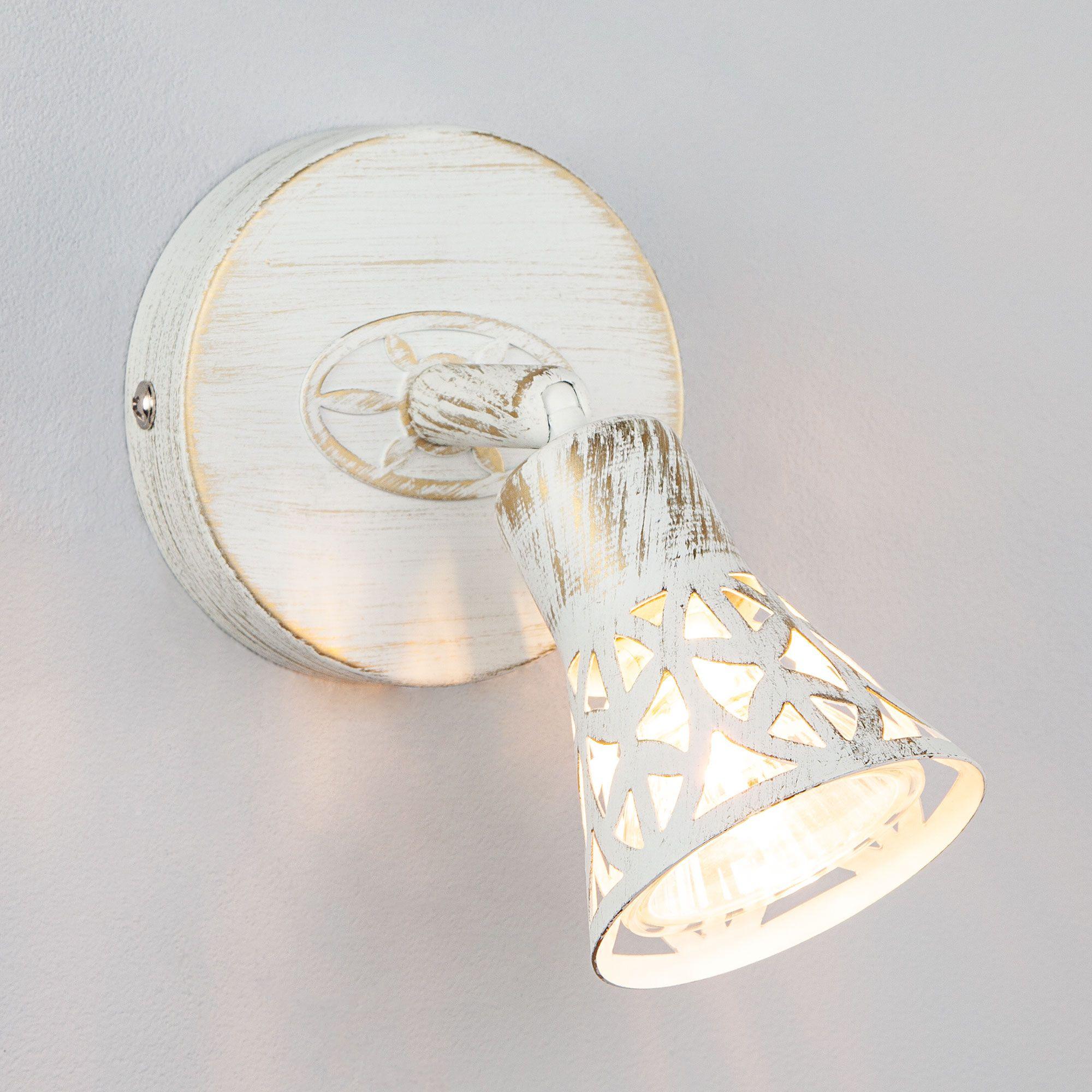 Настенный светильник 20027/1 белый с золотом