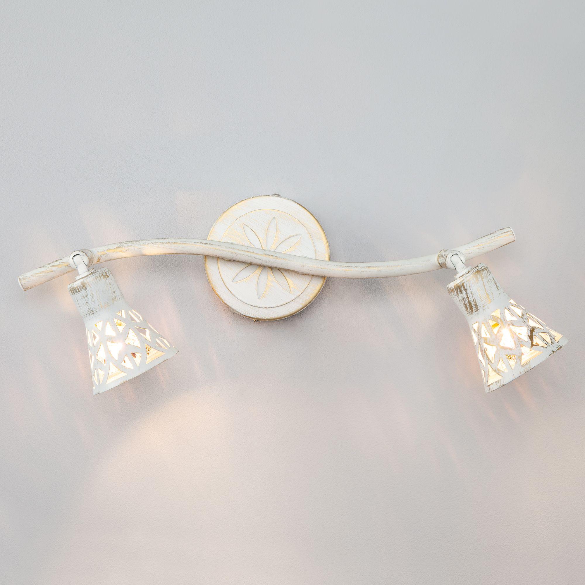 Настенный светильник 20027/2 белый с золотом