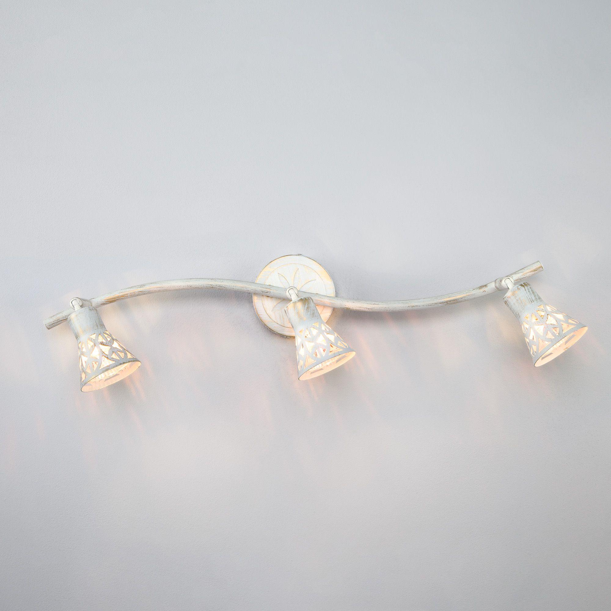 Настенный светильник 20027/3 белый с золотом
