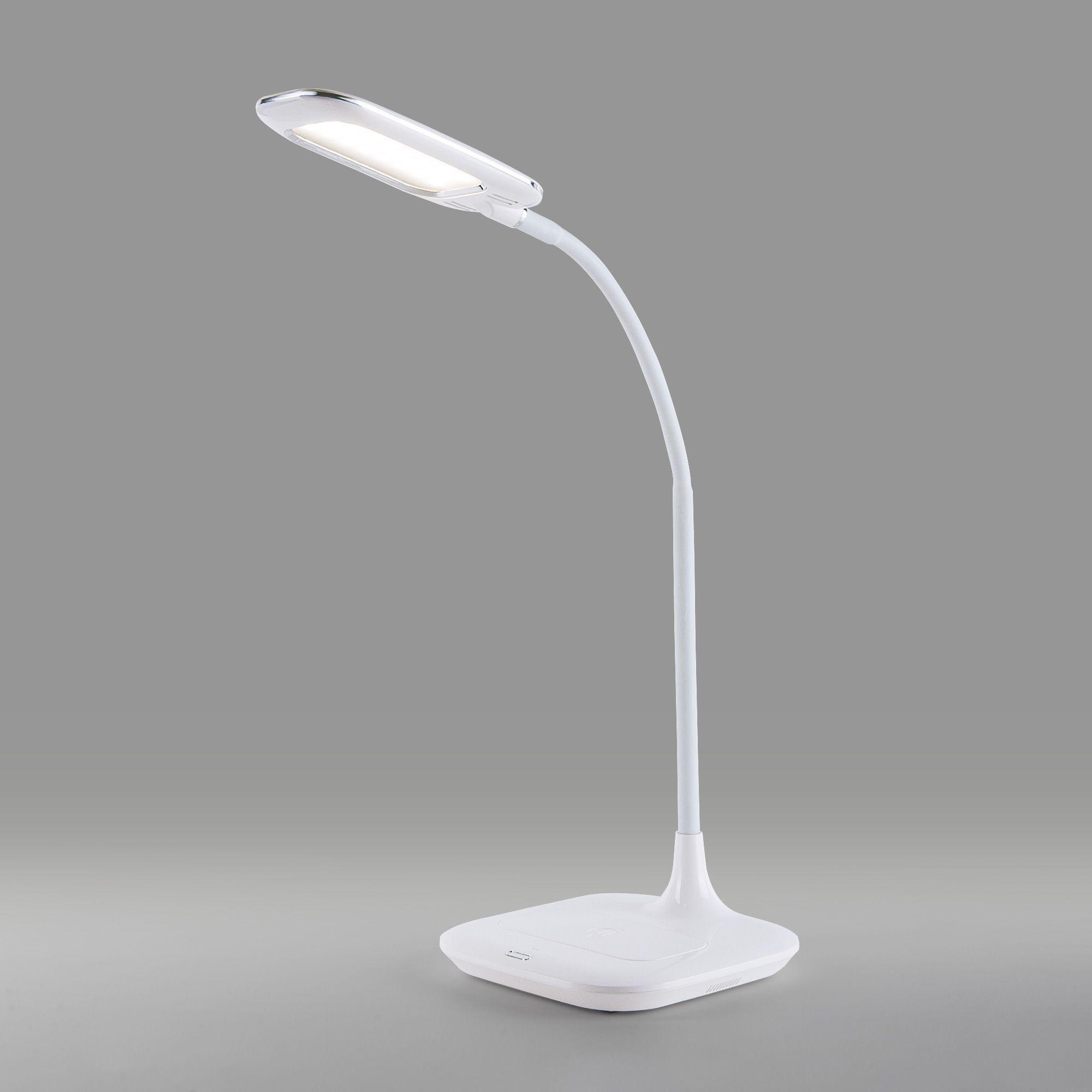 Светодиодная настольная лампа с беспроводной зарядкой 80419/1 белый