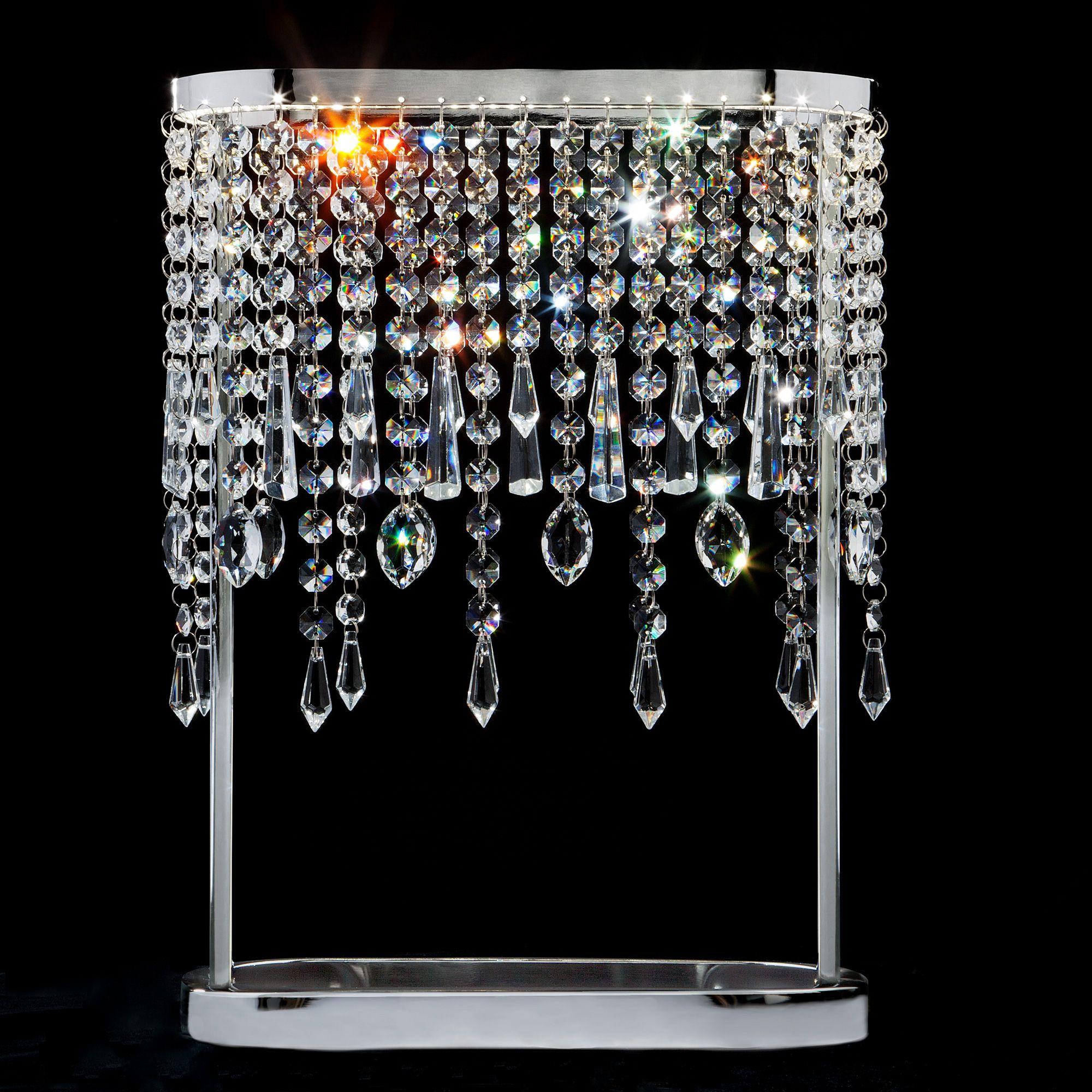 Светодиодная настольная лампа с хрусталем 80413/1 хром