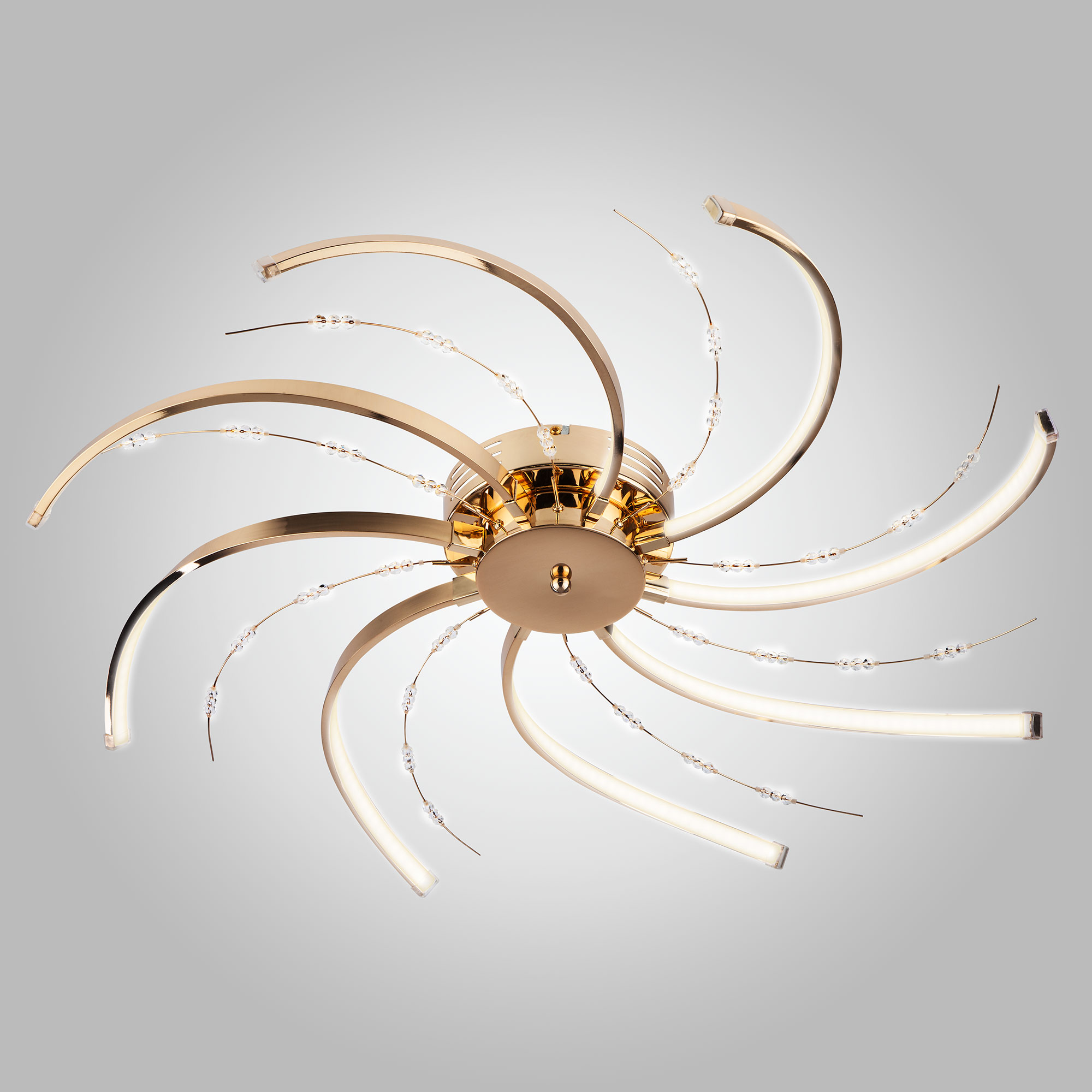 Светодиодный потолочный светильник 90054/8 золото