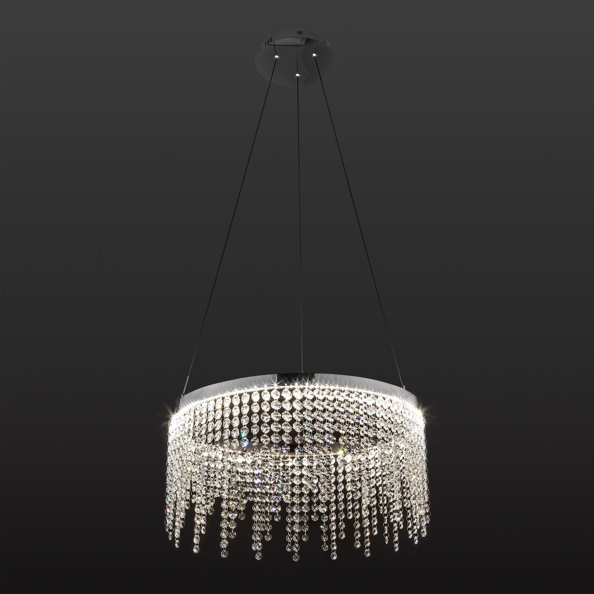 Светодиодная люстра с хрусталем 90050/1 хром